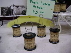 Well, I know it's been driving you crazy what I did with those wooden spools from last post! ha! I turned them into small picture/card hol...