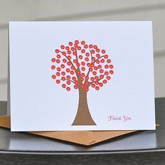 Thank You Cards Personalized Note Cards  Red by deanpennandpaper, $18.00