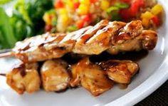 Spiedino di pollo con glassa di mandorle e aceto!