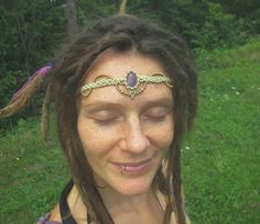 Check out our jewelry selection for the very best in unique or custom, handmade pieces from our shops. Macrame Headband, Macrame Art, Legolas, Dreads, Amethyst, Hair Styles, Bracelets, Handmade, Etsy