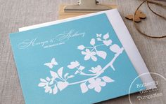 Butterfly Garden Turquoise | Alannah Rose | Wedding Invitations + Stationery