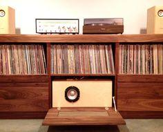 Custom Record Stereo Cabinet By Trey Jones Via Behance