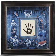 """WAYNE GRETZKY Hand Signed """"TEGATA"""" Stamped Framed Career Mosaic UDA LE 99 - Game Day Legends"""