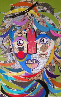Paper portrait - Collage