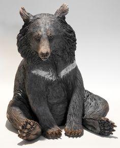 Moon Bear Sculpture - Nick Mackman Animal Sculpture