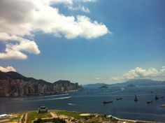 view of Hong Kong Island from Kowloon
