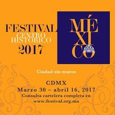No tienes nada que hacer? No te preocupes. Hoy inicia el #FestivalCentroHistórico. Consulta la cartelera: www.festival.org.mx