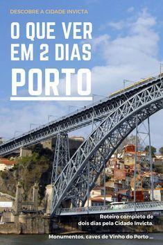 Descobre a #CidadeInvicta com este roteiro de dois dias pelo #Porto ! Uma das cidades da moda em #Portugal totalmente explicada para ti! Eurotrip, Places Around The World, Around The Worlds, Places To Travel, Travel Destinations, Europe, Portugal Travel, Portugal Trip, Travel List