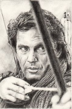 Kevin Costner by immith - Traditional Art / Drawings / Portraits & Figures - Deviant Art Realistic Pencil Drawings, Horse Drawings, Pencil Art Drawings, Portrait Au Crayon, Pencil Portrait, Portrait Art, Celebrity Drawings, Celebrity Portraits, Guy Drawing