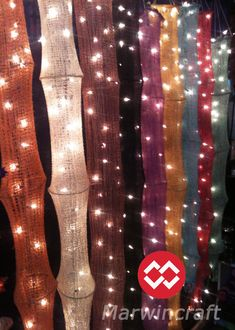 SALE10OFF 2 Sets of 35 Lights Hanging Cotton Yan by marwincraft, $17.59 Ooo. Could be interesting in black.