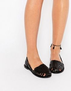 Boohoo Leather Huarache Shoes