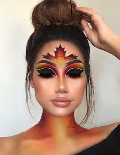Are you looking for ideas for your Halloween make-up? Browse around this website for scary Halloween makeup looks. Fall Makeup Looks, Creative Makeup Looks, Halloween Makeup Looks, Simple Makeup, Easy Halloween, Halloween Photos, Halloween Eyeshadow, Halloween Costumes, Minimal Makeup
