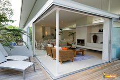 Sliding glass walls for sunroom