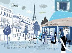 Travel illustration by Martin Haake