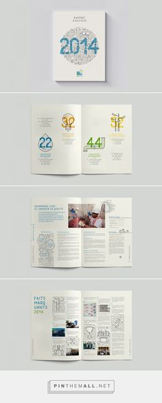 Rapport d'Activité 2014 | Design éditorial | LYDEC | on Behance  https://www.behance.net/gallery/31467263/Rapport-dActivit-2014-LYDEC