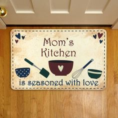Country Kitchen Floor Mat with customizable title (Mom, Grandma, etc.)