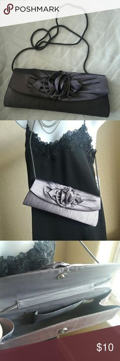 Clutches Bag night out bag Used in good conditions Clutches Bag perfect to go night out. Color gray. Bags Clutches & Wristlets