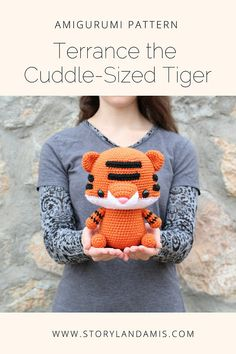 PATTERN: Cuddle-Sized Tiger Amigurumi Crocheted Tiger Used Iphone, Cuddling, Amigurumi, Men Sweater, Twitter, Pattern, Sweaters, Fashion, Moda