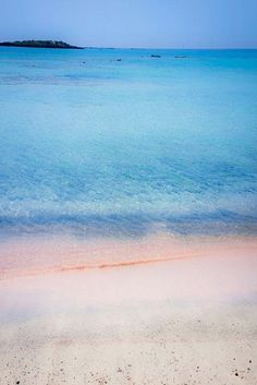 Beautiful waters of Elafonissi Beach and gorgeous pink sand. .