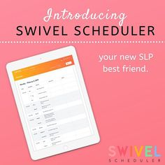 Swivel Scheduler for Speech Teachers: Your new SLP BFF!