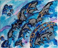 "Saatchi Art is pleased to offer the painting, ""Puffs/Puhallukset,"" by Sanna Huusko. Original Painting: Acrylic, Gesso on Canvas, Wood. Saatchi Art, Original Paintings, Arts And Crafts, Canvas, Artist, Artwork, Tela, Work Of Art, Auguste Rodin Artwork"