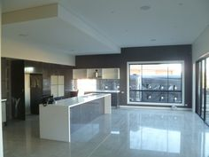 Taubmans Beaver Creek feature wall, dropped ceiling, espresso ligna cupboards.