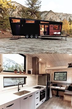 Draper Trailer from Land Ark RV Tiny House On Wheels Ark Draper Land Trailer Best Tiny House, Modern Tiny House, Tiny House Living, Tiny House Design, Building A Tiny House, Tiny House Plans, Tiny House On Wheels, Tiny House Trailer Plans, Tiny House Movement