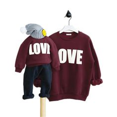 New Spring autumn letter Family Look Matching Mother Daughter Girl Clothes Outfits Mom And Daughter sweatshirt family clothing