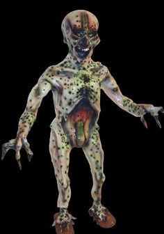 CAMILALIEN - 4 Foot Tall Creepy Alien Acrylic Teeth Extreme Detail Flat Backed Free Standing Prop.