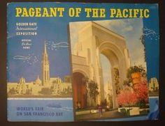Vintage 1939 Pageant of the Pacific Souvenir Book - Golden Gate Intl Expo *RARE*  | eBay