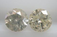 0.38cts 2pc Natural Loose Diamond I Color I Clarity 3.7mm Big Size Non-treated #Handmade