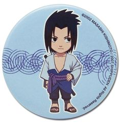 Department is Clothing, Jewelry, Button/Brooch. Primary color is Blue. Publisher is GE Animation. Series is Naruto Naruto Shippuden Sasuke, Lucky Day, Anime Merchandise, News Online, Primary Colors, Chibi, Congratulations, Great Gifts, Just For You
