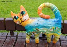 Рыжий Кот. Авторские куклы, войлок Ольги Котовой