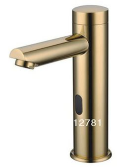 Brushed Nickel Touchless Commercial Bathroom Sink Faucet Hands Free - Commercial bathroom faucets touchless