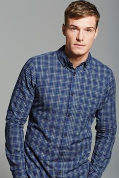Buy Mid Blue Check Shirt online today at Next: Rep. of Ireland
