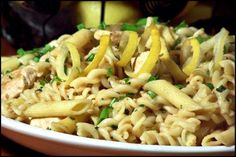 Chicken Piccata Pasta Toss ~ oh, how I love piccata...lemons, butter, what's not to love?