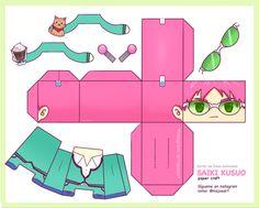 Anime Crafts, Kawaii Crafts, Figurine Anime, Paper Doll Template, Paper Craft Templates, Instruções Origami, Japon Illustration, Anime Stickers, Anime Dolls