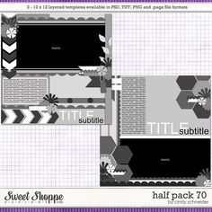 Cindy's Layered Templates - Half Pack 70 by Cindy Schneider