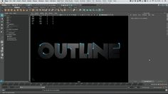 Easily create animated outlines in Autodesk Maya 2016, using the new motion graphics toolkit using the trail node to follow the edge of the type.