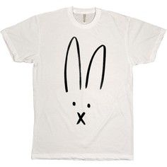 Rabbit Person White Tee, $29, now featured on Fab.