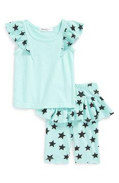 Joah Love Flutter Sleeve Tee & Skirted Leggings (Baby Girls) available at #Nordstrom