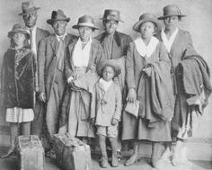 A Black family arrives in Chicago from the South during the Great Migration (c. 1919)