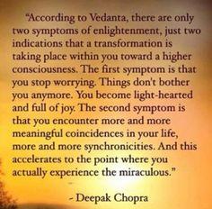 Reaching enlightenment
