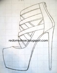 how to draw a perfect high heel | Redo My Shoe: Imagine these strassed...