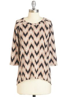 Going in the Right Direction Top. If comfy-chic is what youre aiming for, then wearing this chevron top is a smart choice! #tan #modcloth