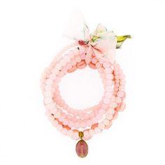 Pink multi rows bracelet Nina Des Criquets – Trend-On-Line Live In Style, My Style, Fashion Essentials, Bohemian Style, The Row, Trendy Fashion, Fashion Accessories, Romantic, Bracelets