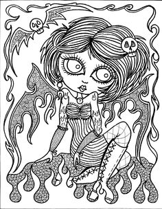 instant download 5 pages gothic angels art chubbymermaid