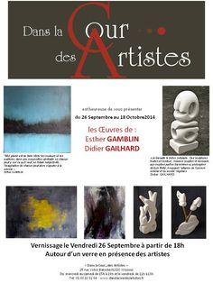 """exposition à la Galerie """"Dans la cour des artistes"""" - Septembre 2014"""