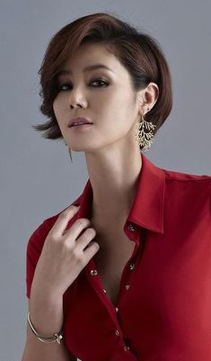Asian Actors, Korean Actresses, Actors & Actresses, Korean Celebrities, Celebs, Asian Short Hair, Kim Sang, Woman Face, Asian Woman