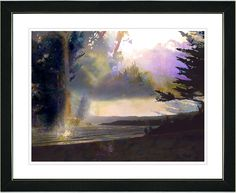 Carmel Beach Sunset by Zhee Singer Framed Graphic Art